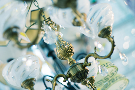 the lamps, close up picture Stock Photo