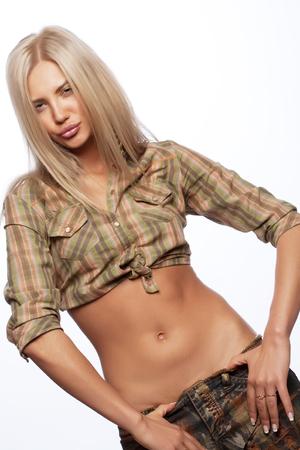 sexy girl dance: beautiful young blond woman