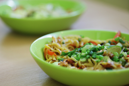 bean sprouts: thai food delicious on the table Stock Photo