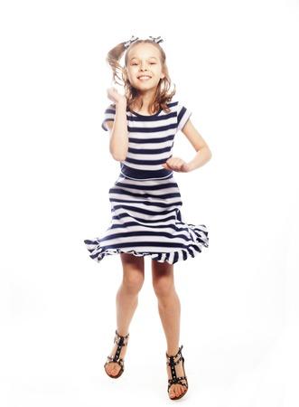 Little girl in the marine dress
