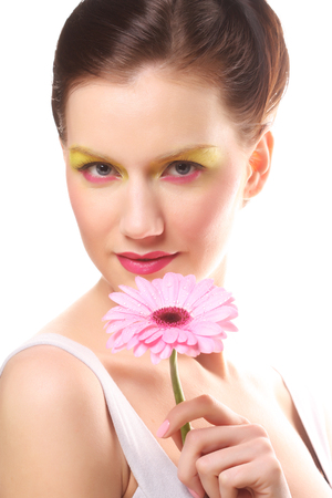 sexualidad: Young woman with bright make up Foto de archivo