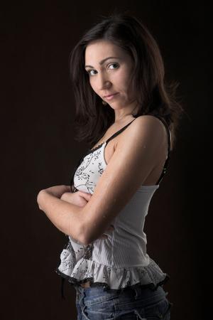 female sexuality: Young beautiful woman Stock Photo