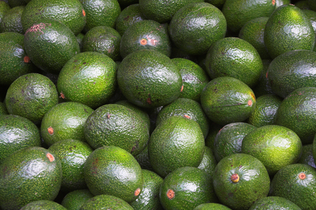 avocado in the market Stock Photo