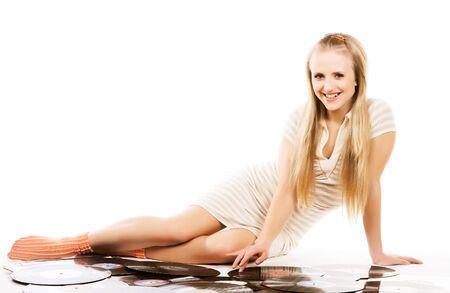 music isolated on white background Stock Photo
