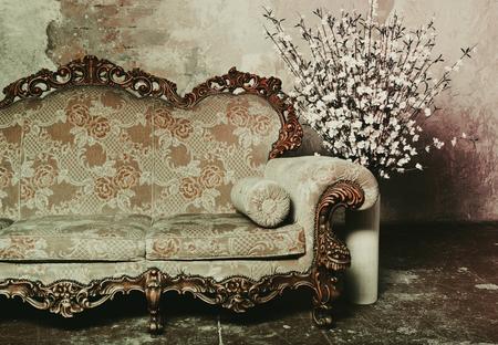 salon: luxury baroque sofa