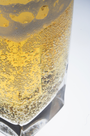 intoxicate: beer on the white background Stock Photo