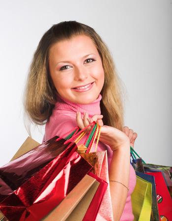 Shopping young  woman
