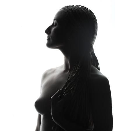 Belle femme topless Banque d'images - 87279231