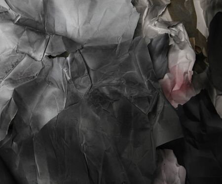 white sheet: background of old crumpled paper