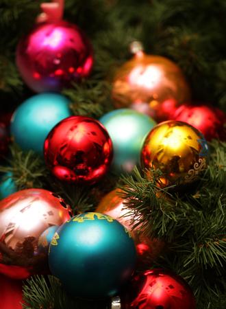 christmas ball close up