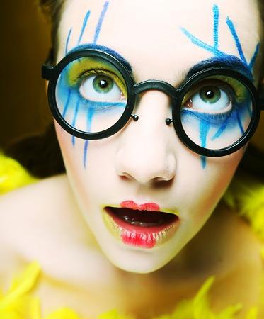 crazy girl close up