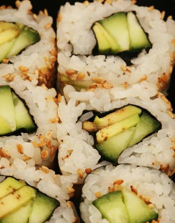 Maki Sushi macro Stock Photo