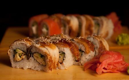 sushi in japanese restaraunt