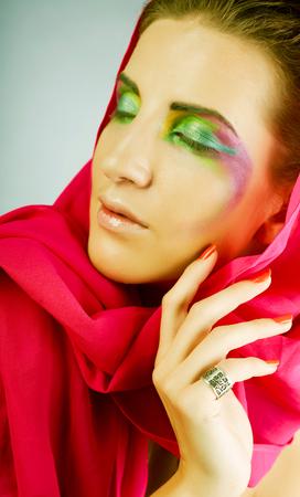 magic eyes make-up 免版税图像