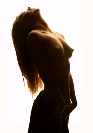 Ragazza nuda da vicino Archivio Fotografico