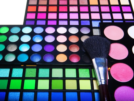 multicolored eye shadows Imagens