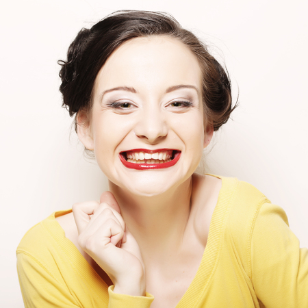 Beautiful young surprised woman. Фото со стока