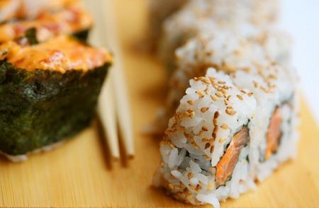 Japanese food. Sushi. Фото со стока