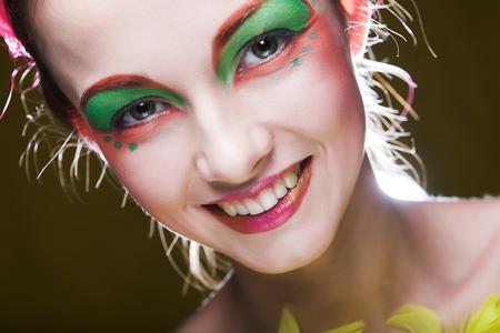 girl with creative visage Stock Photo