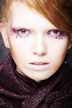 Beautiful Creative Fashion Makeup. Banque d'images - 124788114