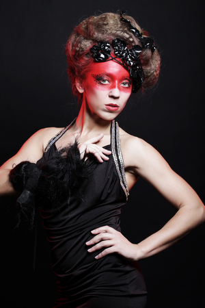 Young woman with creative make-up Banque d'images - 124789658