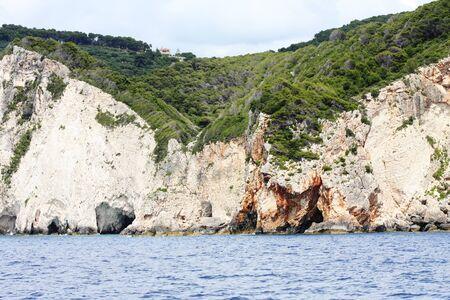 Wonderful vacation. Blue caves on Zakynthos island, Greece, travel concept