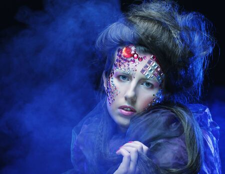 Halloween Beauty style woman makeup