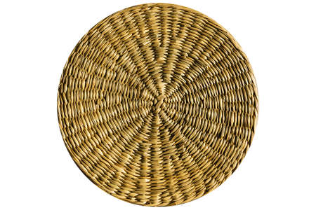 Isolated, braided in a circle of straw texture