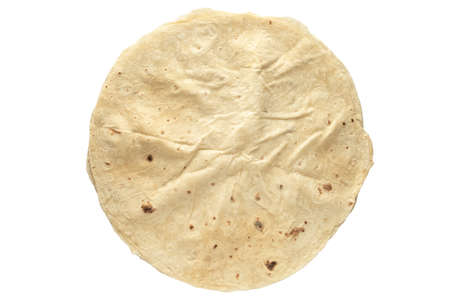 Pita bread isolated on white background. Pita bread. National cuisine.