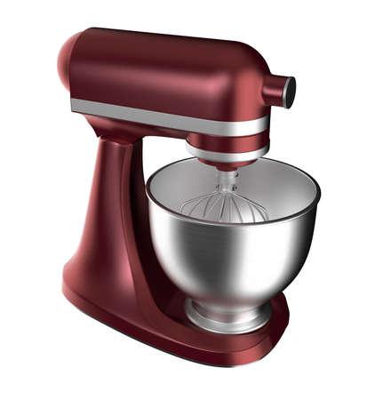 batteur �lectrique: Vin batteur �lectrique rouge isol� sur fond blanc