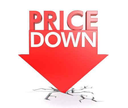 概念の下の価格 写真素材