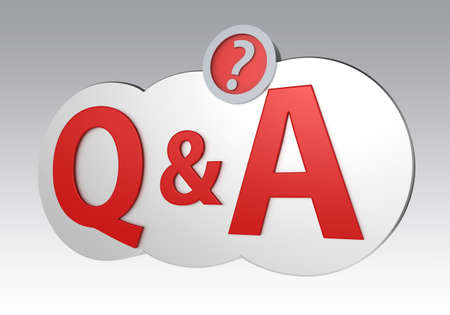 qa: Question and Ask mark with clipping path