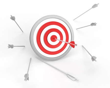 bull s eye: Target concept Stock Photo
