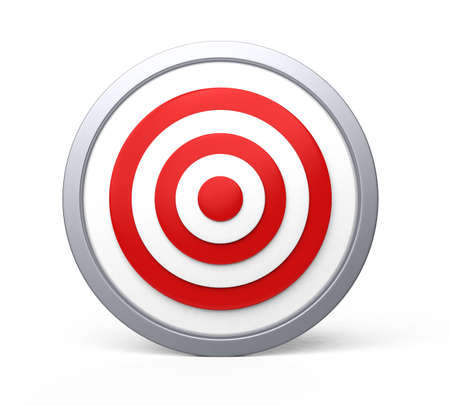 Red target with bull s-eye
