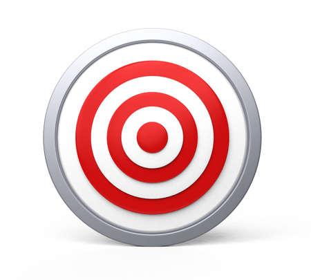 bull s eye: Red target with bull s-eye