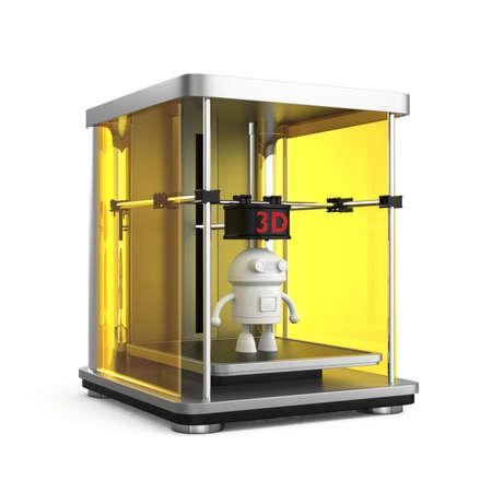 rapid prototyping: 3D printer concept  Original design for 3D print concept  Stock Photo