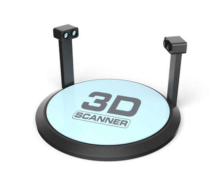 scanned: 3D scanner design with clipping path
