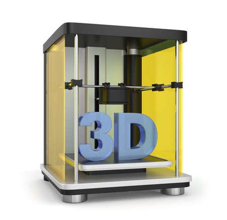 rapid prototyping: 3D printer concept  Stock Photo