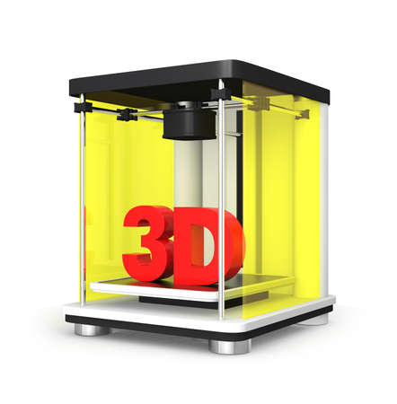 prototyping: 3D printer concept  Stock Photo