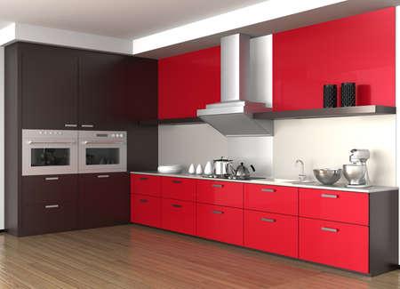 cupboards: Modern kitchen interior