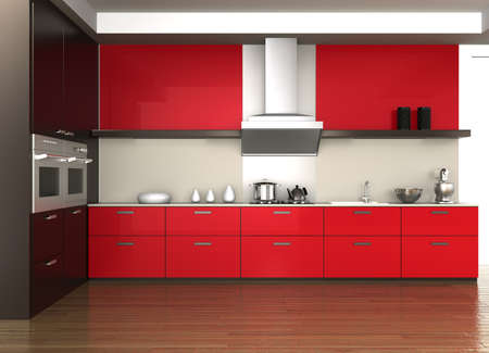Moderne Küche Interieur  Standard-Bild - 25822587