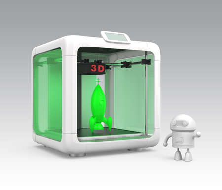 rapid prototyping: Compact personal 3D printer and 3D models