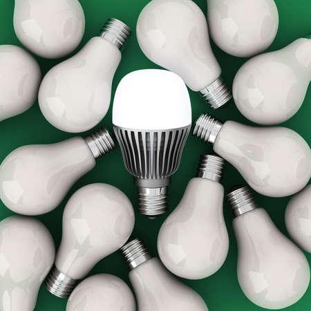 filaments: LED and filaments light bulbs