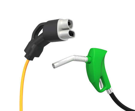 Gas nozzle and electric vehicle quick charger photo