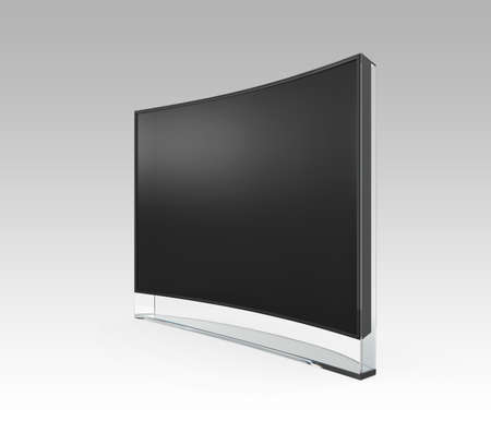 sharp curve: 4K curved television with clipping path