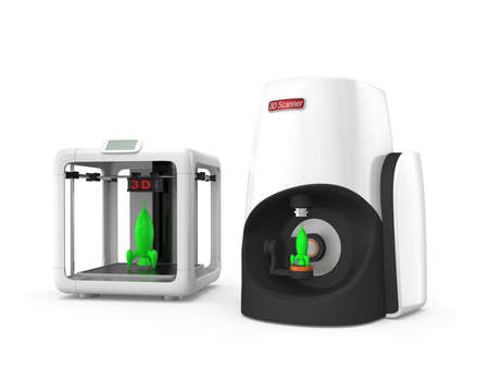 rapid prototyping: Personal 3D printer and scanner for rapid prototyping