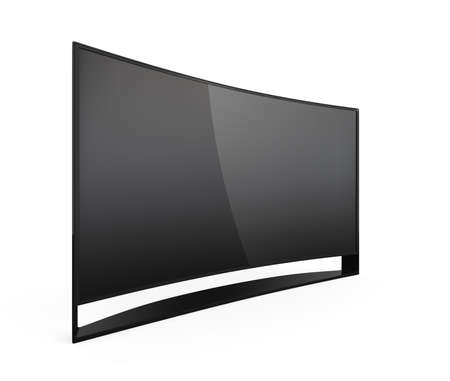 sharp curve: 4K curved television on white