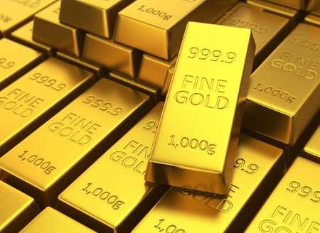 gold bars: Fine gold bars