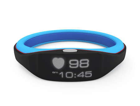 Smart wristband isolated on white background