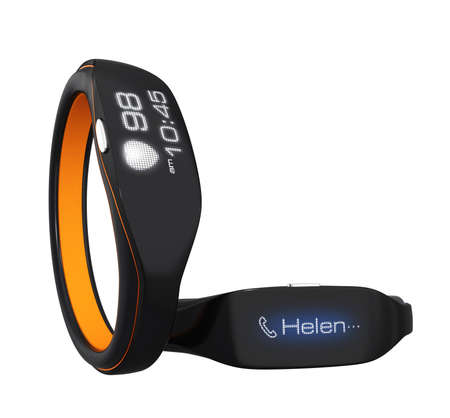 Smart wristbands show heart rate and phone call